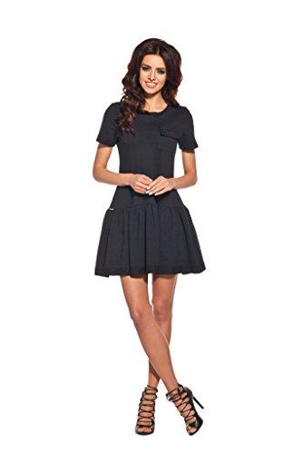 AmazingGirl Kleid Abendkleid Partykleid Elegant MidiKleid Sportkleider Schwarz