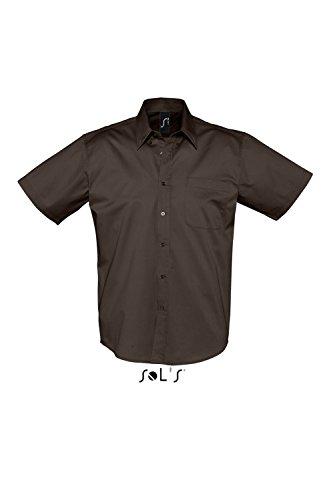 Sols -  Camicia classiche  - Maniche corte  - Uomo Marrone