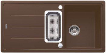 Franke Basis BFG 651 Chocolate Granitspüle Braun Küchenspüle Spülbecken Einbau