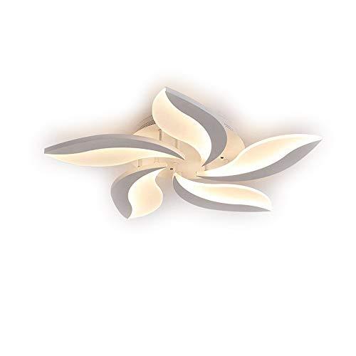 Gewölbten Blättern (48W LED Leuchter Deckenleuchte Wohnzimmerlampe Schlafzimmerlampe Modern Runden Blätter Design Deckenlampe Weiß Lampenschirm Lampe für Esszimmer Küche Blume Decke Beleuchtung, Dimmbar mit Fernbedienung)