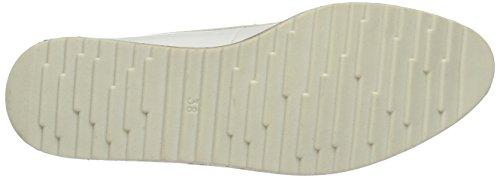 Marco Tozzi 23727, Scarpe Stringate Basse Oxford Donna Bianco (White Patent 123)