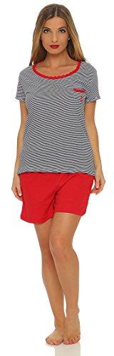 Good Deal Market Kurzer Damen-Pyjama sommerlicher Schlafanzug in verschiedenen Modellen • luftige leichte Baumwolle • Trends 2018 • Grösse 36/38 bis 48/50