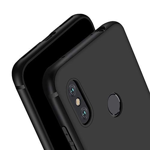 ExpressB® Redmi Note 6 Pro Case Cover Soft Black TPU Cover Phone Case [1.2mm Ultra Thin] Matte Finish Slim Profile Phone Case Cover for Xiaomi Redmi Note 6 Pro -Black