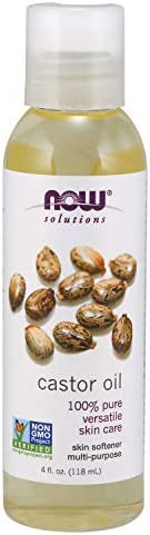 NOW Solutions Castor Oil 4 oz 100% pure