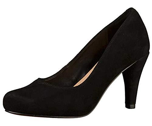 Clarks Dalia Rose Womens Court Shoes 4.5 D (M) UK/ 37.5 EU Schwarzes Wildleder Clarks Womens Heels