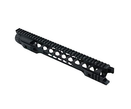 OAREA 12 14 Inch MLOK Keymod Handguard Free Float Super Slim AR 15 Handguard Quad Rail for M4 M16 Airsoft Slim Quad