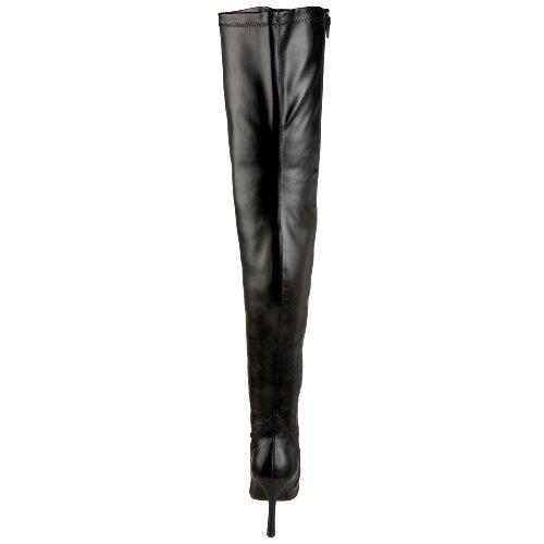 Pleaser Lust-3000, Damen Stiefel & Stiefeletten Blk Str Pu