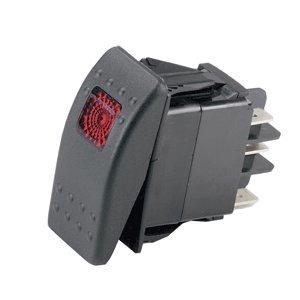 Ancor Marine Grade Elektrischer Wippschalter mit Licht, 554024, Single Pole/Single Throw -