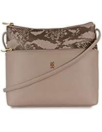 Baggit Women's Messenger Bag (Beige)