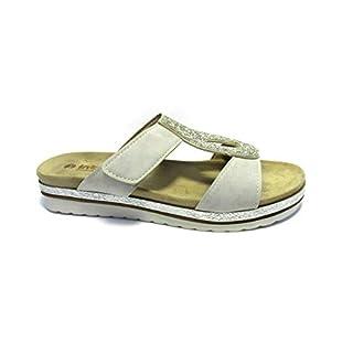 INBLU Women's Sandal Flip Flops, Avorio (Ghiaccio 002), 7