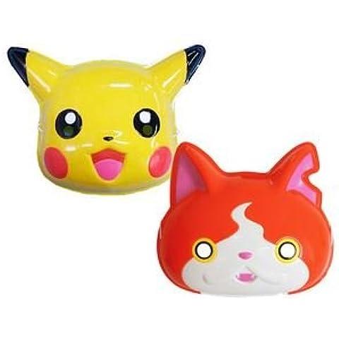 Pikachu & Jibanyan Máscara Juego de Omen Pokemon/yokai Reloj