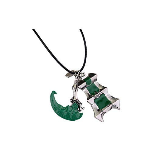 Hzzzzz Alloy Game Related Necklaces Scythe and Tower Pattern Pendant