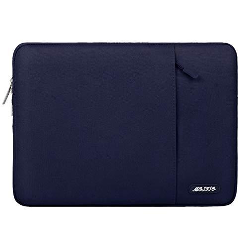 MOSISO Laptop Sleeve Hülle Kompatibel 2019 2018 Neu MacBook Air 13 Zoll A1932, 13 Zoll Neu MacBook Pro A2159 A1989 A1706 A1708, Polyester Vertikale Stil Wasserabweisend Laptoptasche, Navy Blau
