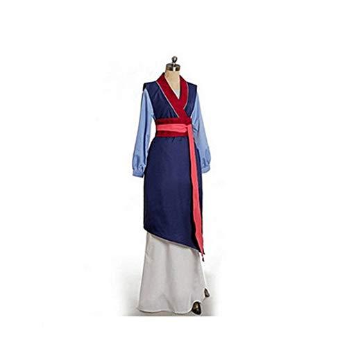 Baige Mulan dunkelblaues Kleid, Cosplay Kimono kostüm, voll Anime kostüm weiblich, kostüm (Erwachsene)
