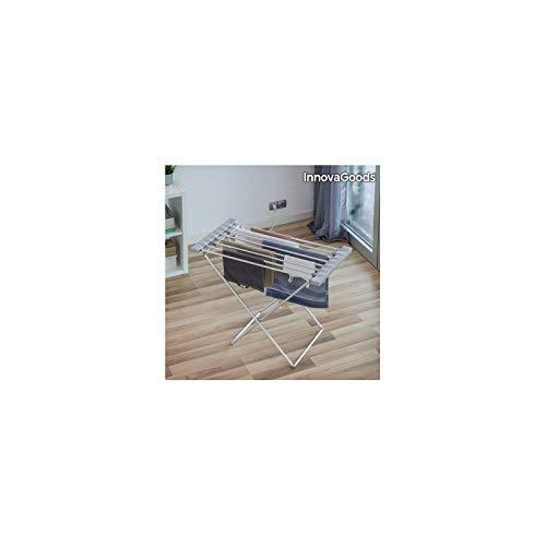 InnovaGoods Stendibiancheria Elettrico, Alluminio e ABS, Argento, 94x 74x 50cm