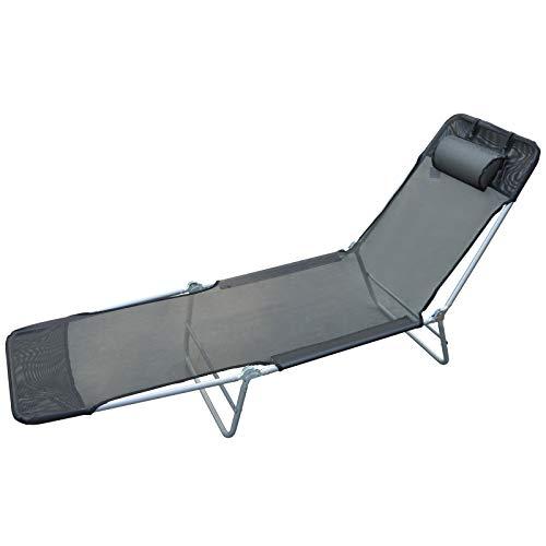 Outsunny - Tumbona reclinable para...