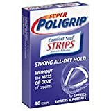 Super PoliGrip Comfort Seal Strips Denture Adhesive - 40 Strips