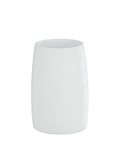 WENKO 22896100 Gobelet Goa, blanc, Polyrésine, 7,4 x 10,5 cm