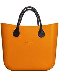 4cb6de4d57 OBAG Borsa o bag mini arancione mattone sacca interna manico corto nero