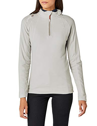 Damen Sweatshirt Talmud Lady Half Zip, Grau (LIGHT GREY), Gr. XX-Large (Herstellergröße: 5) ()