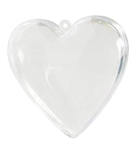 Irpot - 6 scatoline trasparenti cuore pser3 portaconfetti bomboniera cuori
