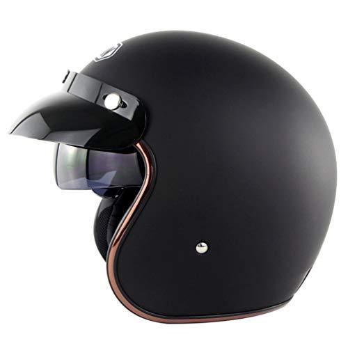 Erwachsene Retro Leder Pilot Motorradhelm UV-Schutz Anti Fog Leichte Unisex Harley Helm Stoßfest Anti Fall Atmungsaktiv Komfort Zyklus Sicherheitskappen Jahreszeiten Universal - Retro Daytona Leder