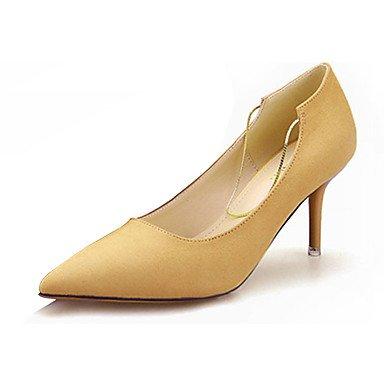 Moda Donna Sandali Sexy donna caduta tacchi Comfort PU Casual Stiletto Heel altri nero / giallo / il verde / rosa / grigio altri Yellow