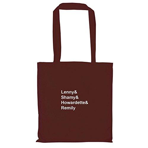 TEXLAB–Lenny & shamy & howardette & remily–Sacchetto regalo in tessuto Marrone