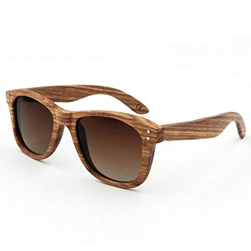 Lindan shangmao protezione uv per occhiali da sole polarizzati in legno retrò da donna (colore : viola)