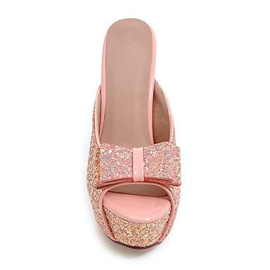 LvYuan Da donna-Sandali-Matrimonio Formale Serata e festa-Club Shoes-A stiletto-Materiali personalizzati-Nero Rosa Bianco Argento Dorato Pink