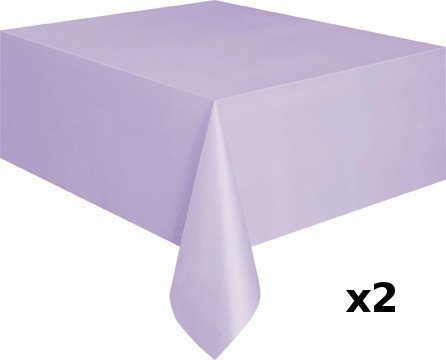 Lavender Table cover / Table cloth x 2 EXTRA VALUE PACK