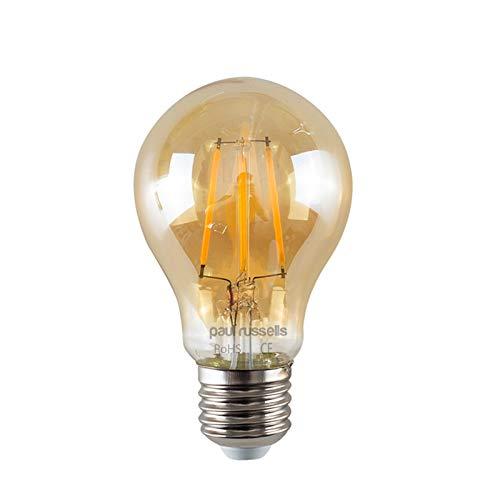 2x Paul Russel Vintage Stil Edison Schraube LED-Leuchtmittel 8W GLS Antik Globe A60Licht Dekorieren Home 360Beam Lampe E27ES 2200K warmweiß 80W Glühlampe Ersatz [2Stück] (Antike Leuchtmittel Globe)