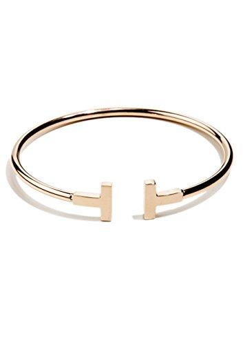 Happiness Boutique Damen Offener Armreif Rosegold Titan | Armband Minimalist Armschmuck für Frauen