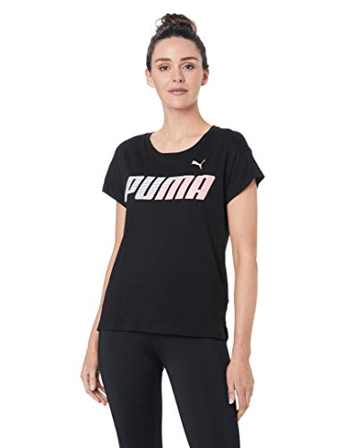 PUMA Damen MODERN Sport Graphic Tee T-Shirt, Black, - Sport Damen Puma Shirts
