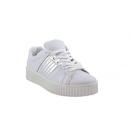 Benavente, Sneaker donna bianco argento ...
