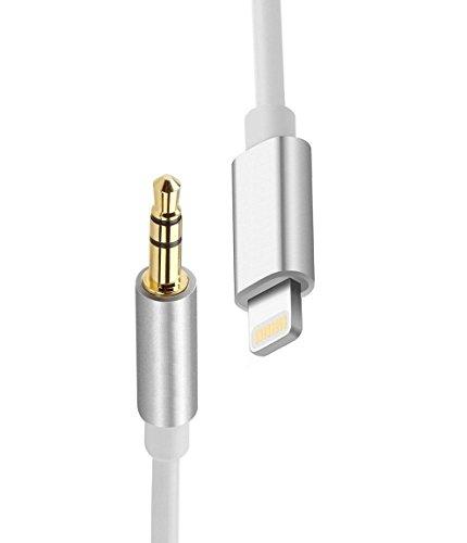Lightning a 3.5 mm maschio cavo adattatore audio AUX, Sunshot 1 metro lightning a 3,5 mm jack per cuffie cavo adattatore per iPhone 7 7PLUS