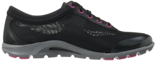 Rockport TruWALKzero II Synthétique Chaussure de Marche Black-Magent