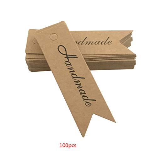 Aiming 100pcs Danke Handgemachte Muster Schlagwörter Blank Paper Label-Karte Backen Dekorative Werkzeuge Geschenk-Dekor