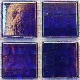 Vitreous Iridescent Mosaic Tiles 20mm Indigo Jewel