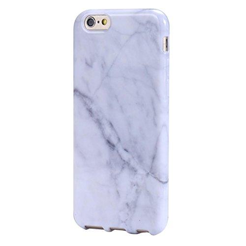 aobiny Handytasche Marmor Textur Print Cover Case Skin für iPhone 6S 11,9cm, Weiß