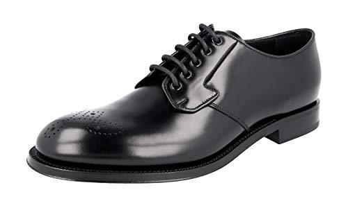 Prada Herren PCU010 Full Brogue Leder Business Schuhe, Schwarz (schwarz), 43 EU - Prada Kleid Schuhe Männer