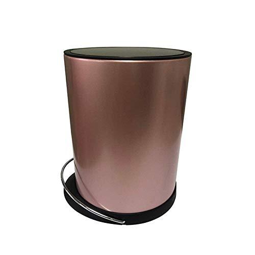 Dapang USB Edelstahl Automatische Mülleimer, Breite Öffnung Sensor Kitchen Trash Bin, Stromversorgung über USB (Geschenk) für Wohnzimmer Küche Bad Büro,Rosegold -