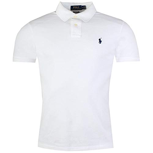 Ralph Lauren - Herren Polo shirt - Custom Slim fit - Weiß - L