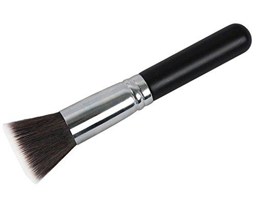FOONEE Professional Hölzern Griff Nylon Haare Flach Ende Kosmetikpinsel,15cm - Mineral Foundation Pinsel