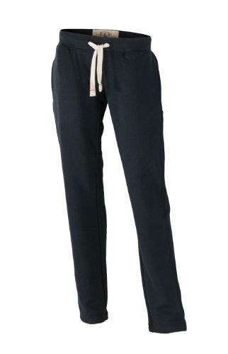 James & Nicholson Sweathose Ladies' Vintage Pants-Mutande Donna Nero (Black)