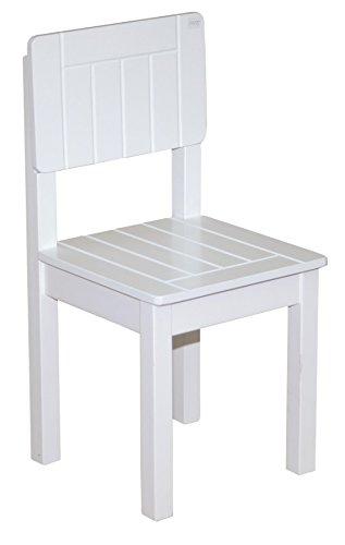 Garten Esszimmer Möbel (roba Kinderstuhl, Stuhl mit Lehne für Kinder, weiß lackiert, HxBxT: 59x29x29 cm, Sitzhöhe 31 cm)