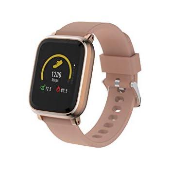 Denver Electronics SW-160 Rose– Reloj Inteligente, Bluetooth, Sensor de frecuencia cardíaca, Muestra la identificación de Llamadas y la ...