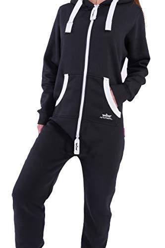 Finchgirl Damen Jumpsuit Jogger Trainingsanzug in Schwarz - 3