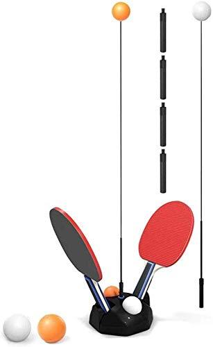 Verbesserte Zugstufe Tischtennis Trainer, Ping-Pong Paddel-Tennis Training Set höhenverstellbar mit Flexible Schnelle Rebound-Gerät for Personal/Doppel Übung, 6 Bälle und 2 Schläger inklusive Vineya