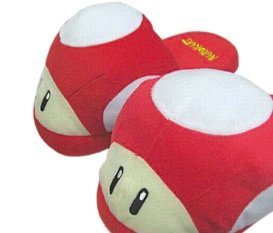 SUPER MARIO BROS SLIPPERS red mushroom (Super Mushroom Mario Red)